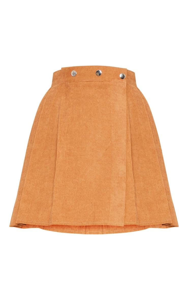 Camel Cord Skater Skirt  3