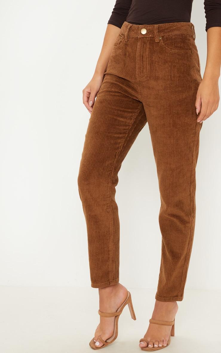 Camel Jumbo Cord Mom Jeans 2