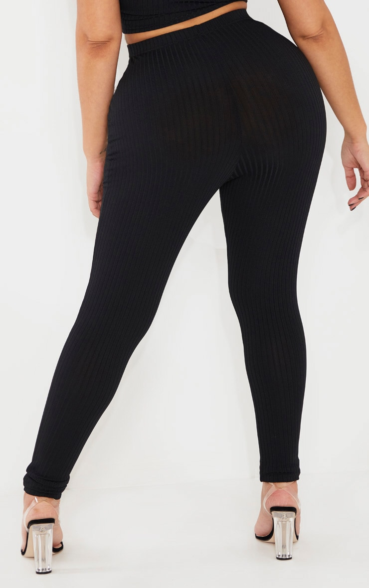 Shape Black Ribbed Legging 4