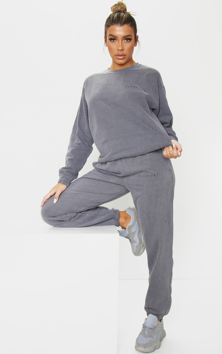 PRETTYLITTLETHING - Sweat de sport gris anthracite 3