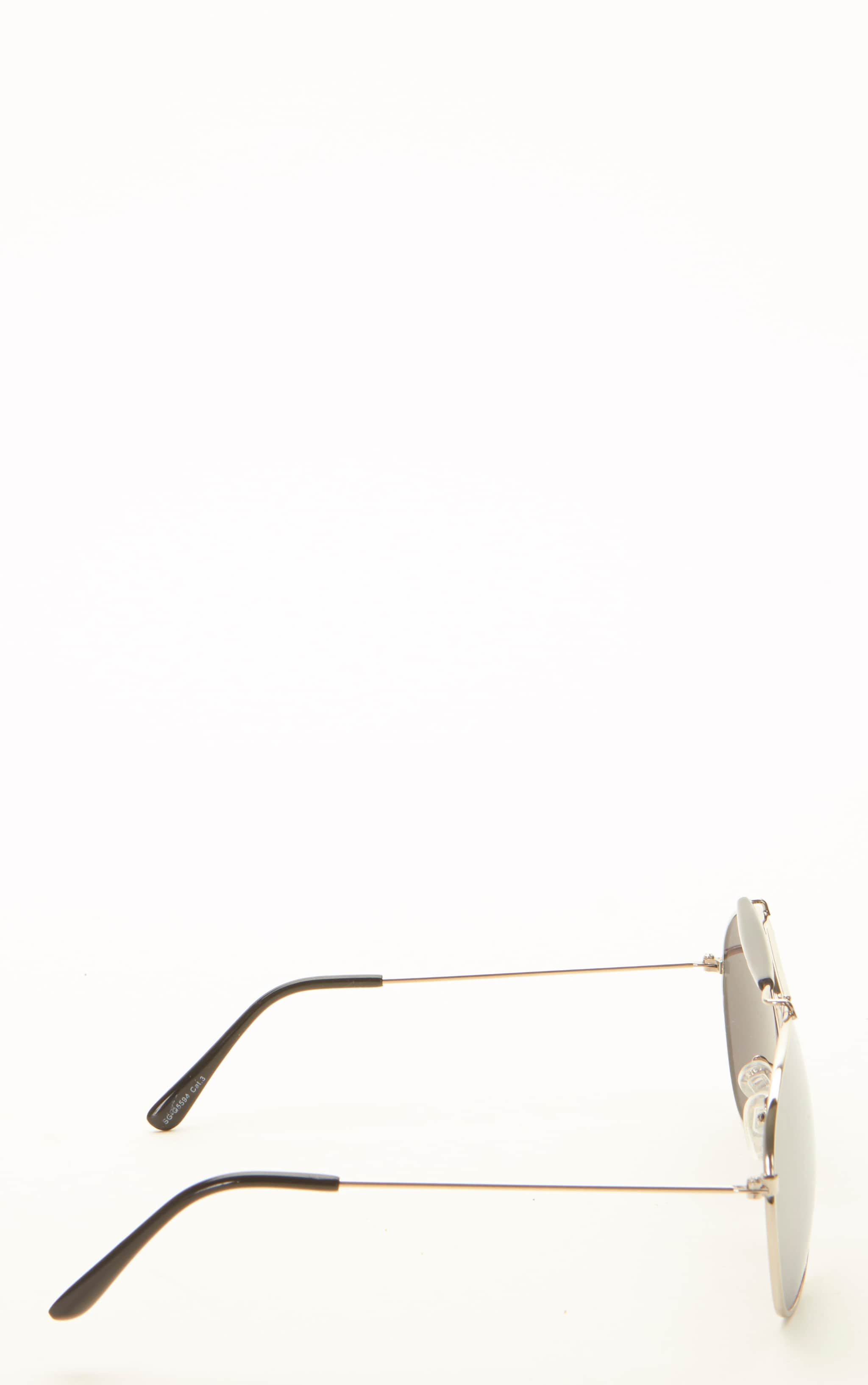 Lila Silver Frame Black Bar Aviators 3