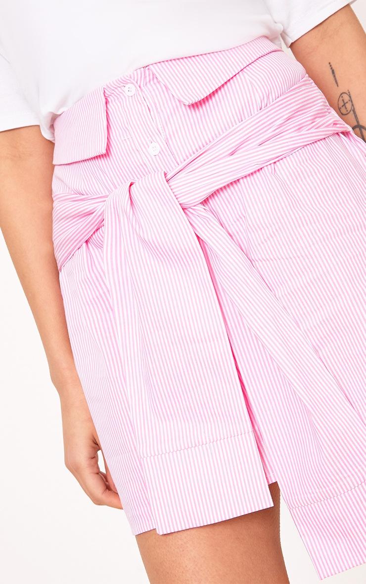 Bia Pink Pinstripe Shirt Skirt 6
