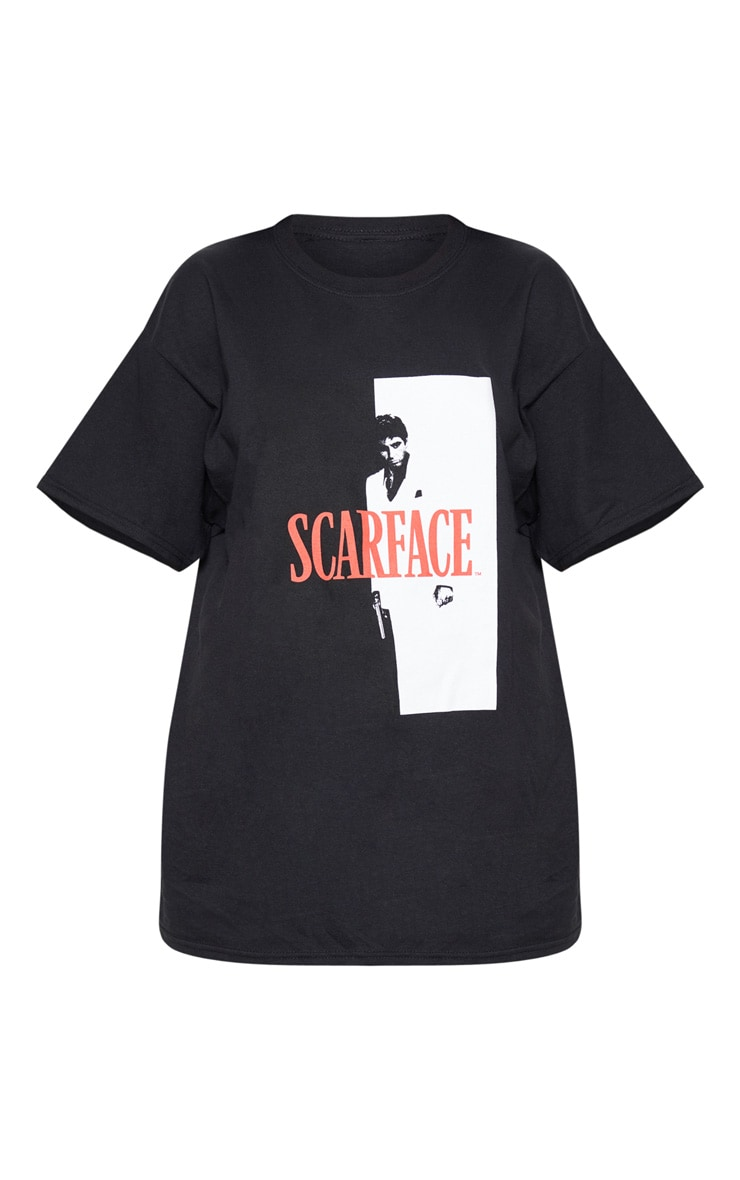 Black Scarface Printed Oversized T Shirt 5