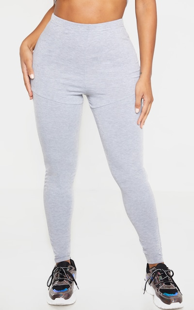 Shape Grey Jersey Panelled High Waist Legging