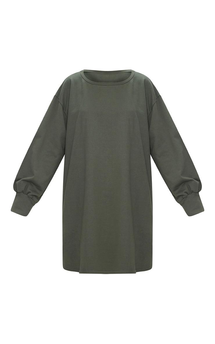 Khaki Oversized Sweater Dress 3