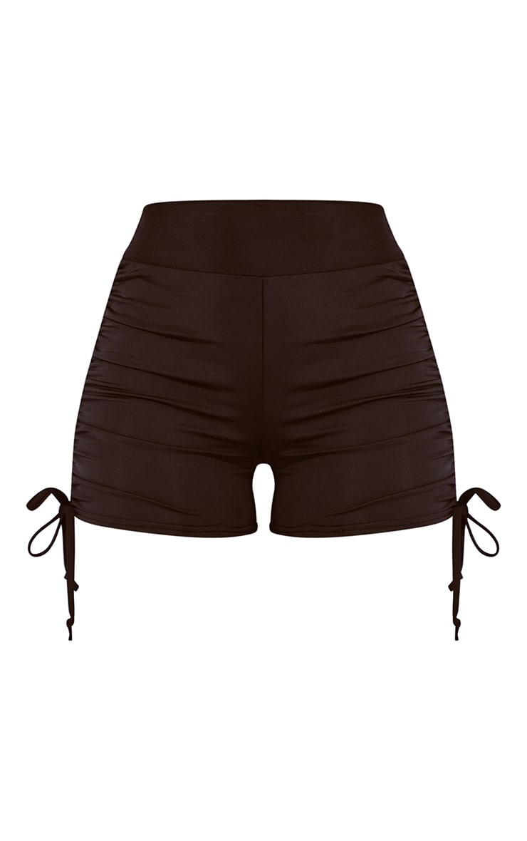 Black Ruched Side Booty Short 6