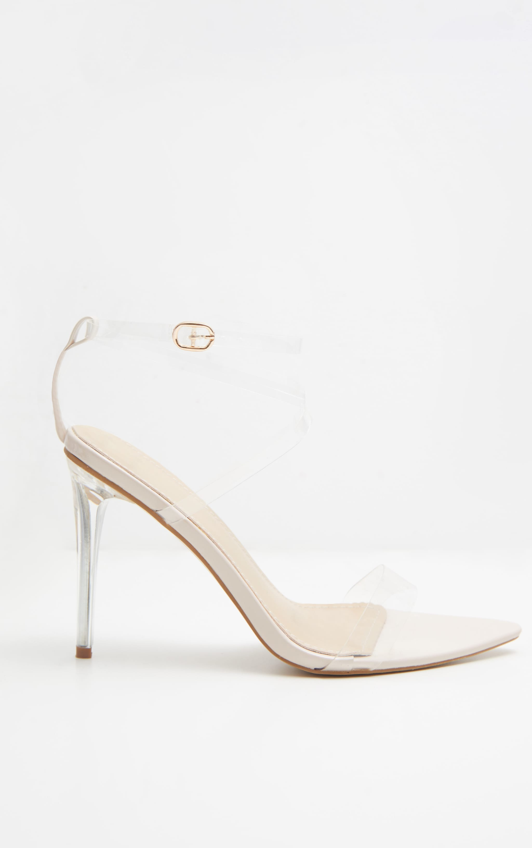Nude Point Toe Clear Strappy Sandal  4