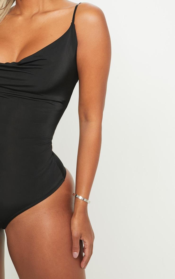 Shape Black Slinky Cowl Bodysuit 6