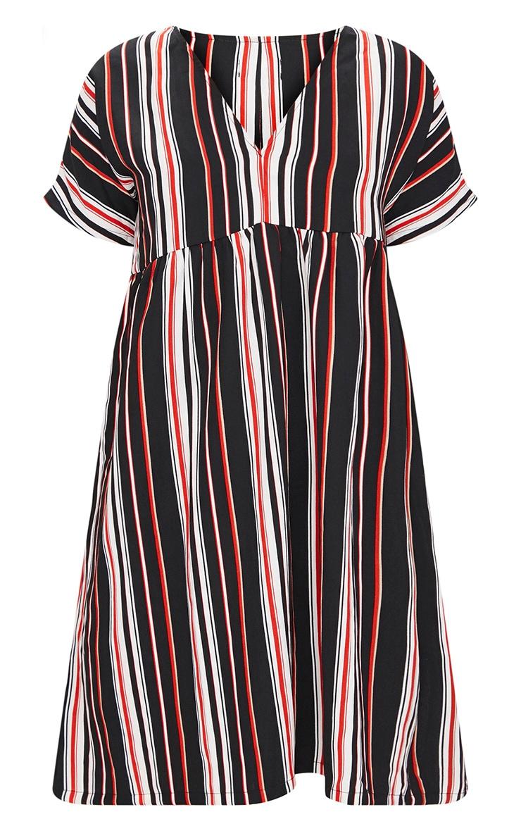 Black Stripe Smock Dress 3