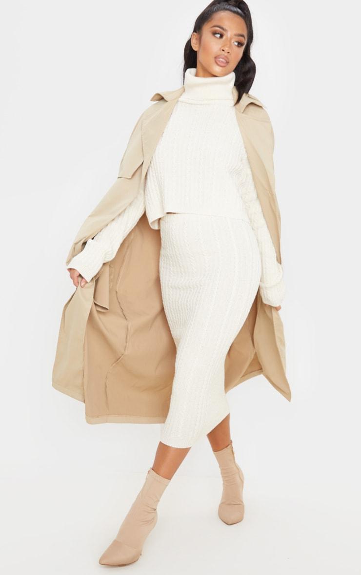 Petite Stone Knitted Midi Skirt 1