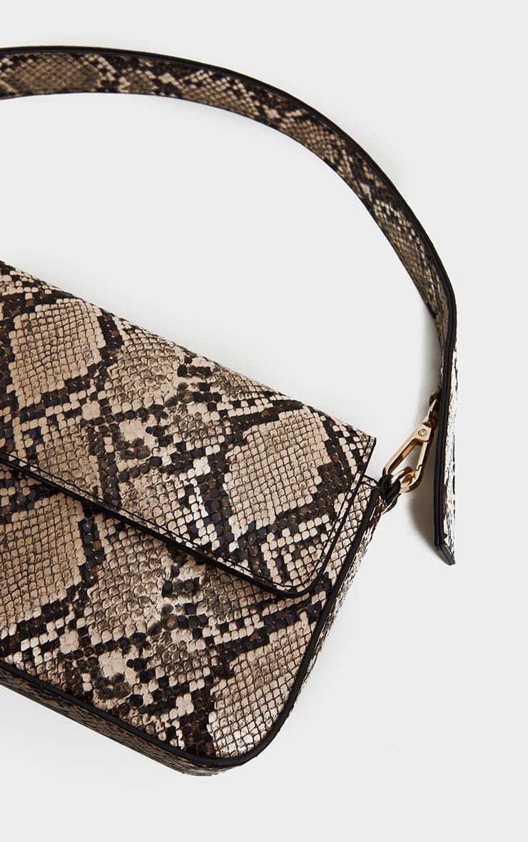Brown Snake Cross Body Bag 4