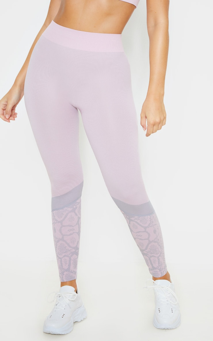 Pink Snake Seamless Sports Legging 2