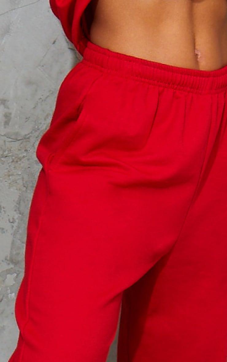 Jogging sweat rouge vif 4