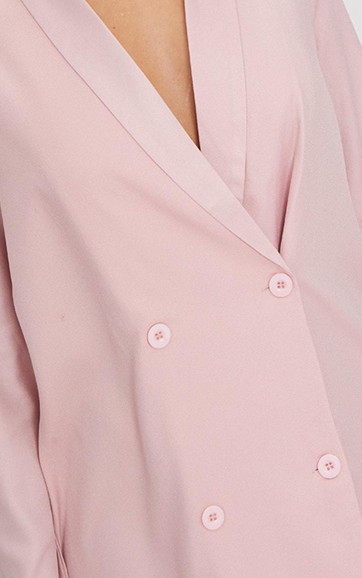Dusty Pink Oversized Blazer Shift Dress 5