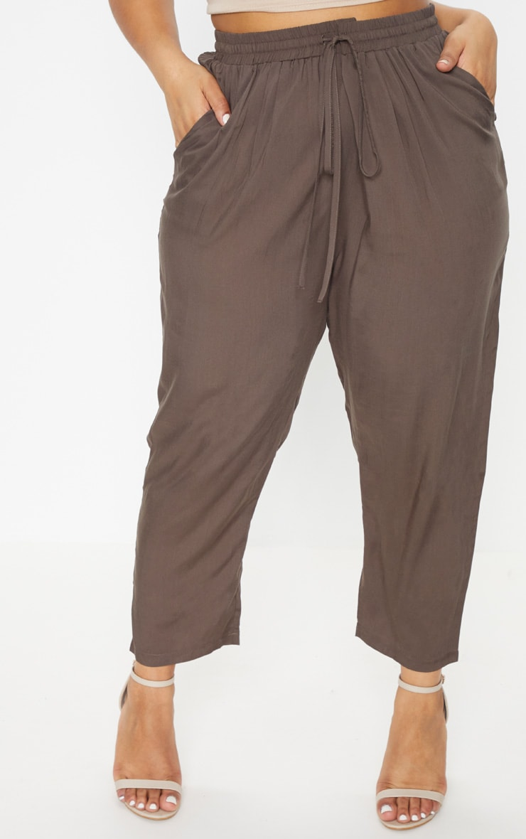 Plus Khaki Casual Trousers 4