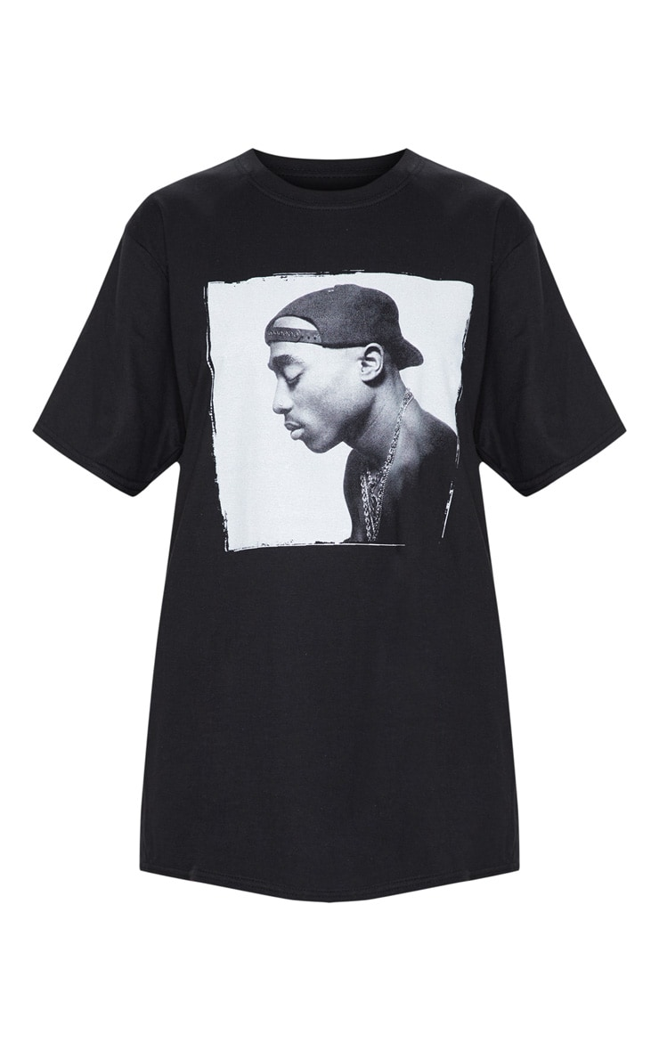 Black Tupac Chains Oversized T-Shirt 3