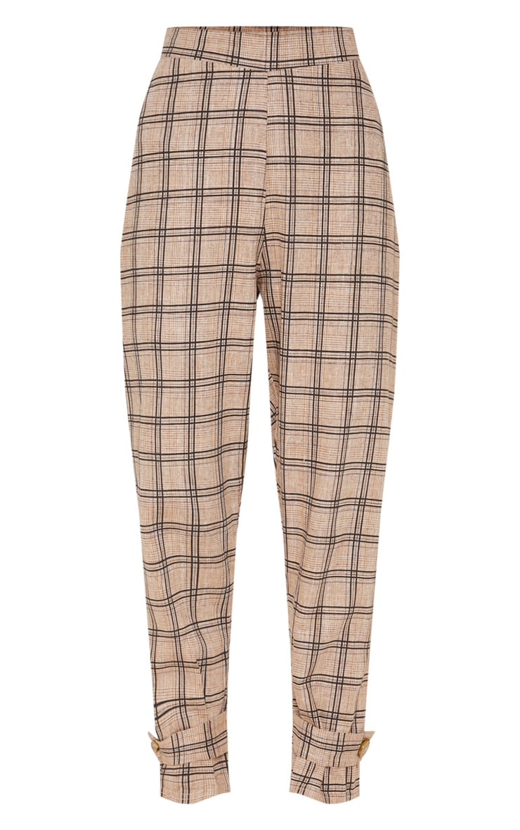 Black Check Peg Leg Trousers 3