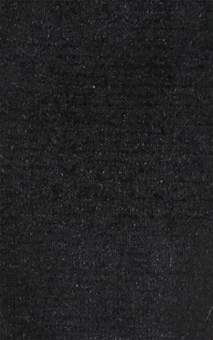 Louisa Black Fluffy Knit Midi Jumper Dress 3