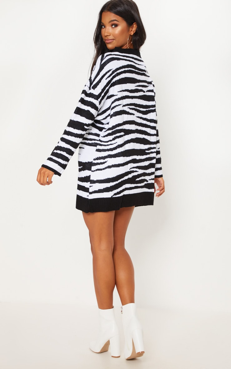Zebra Print Jumper Dress  2