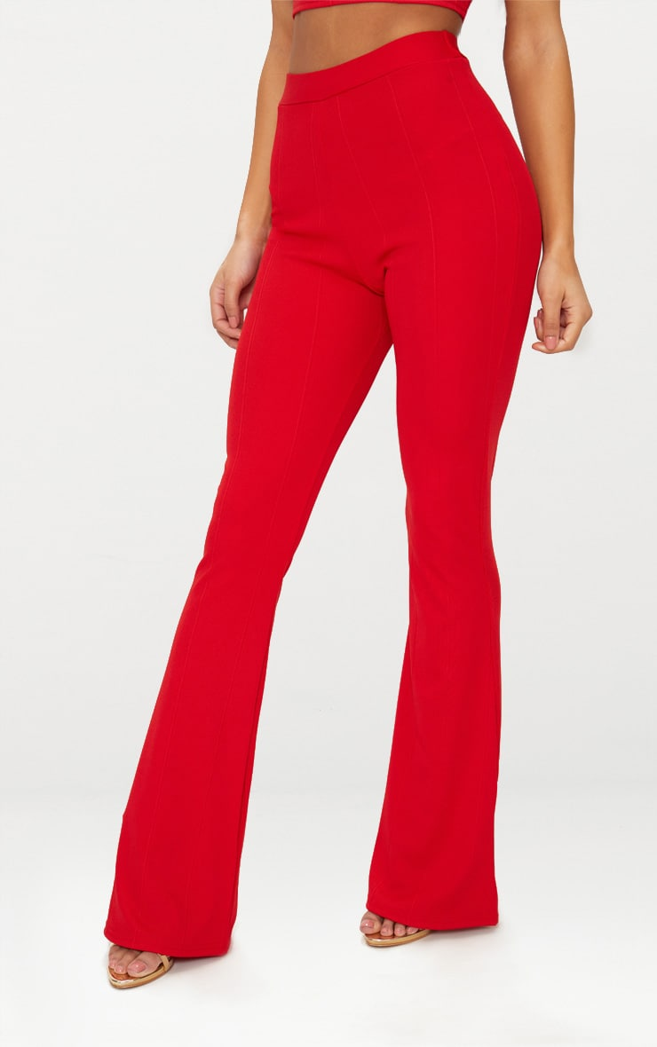 Red Bandage Flared Pants 2