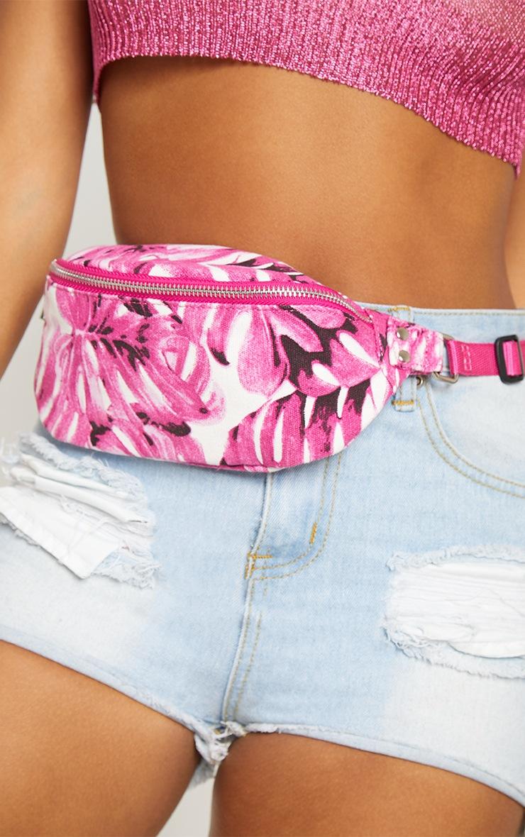 Pink Flower Bum Bag 3