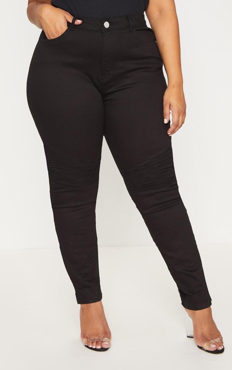 Plus Black Biker Jeans 2