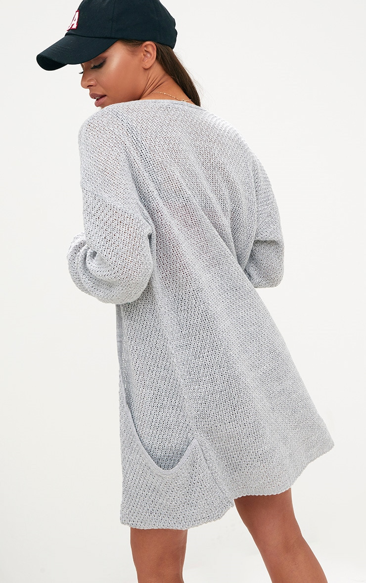 Grey Lightweight Cardigan 2