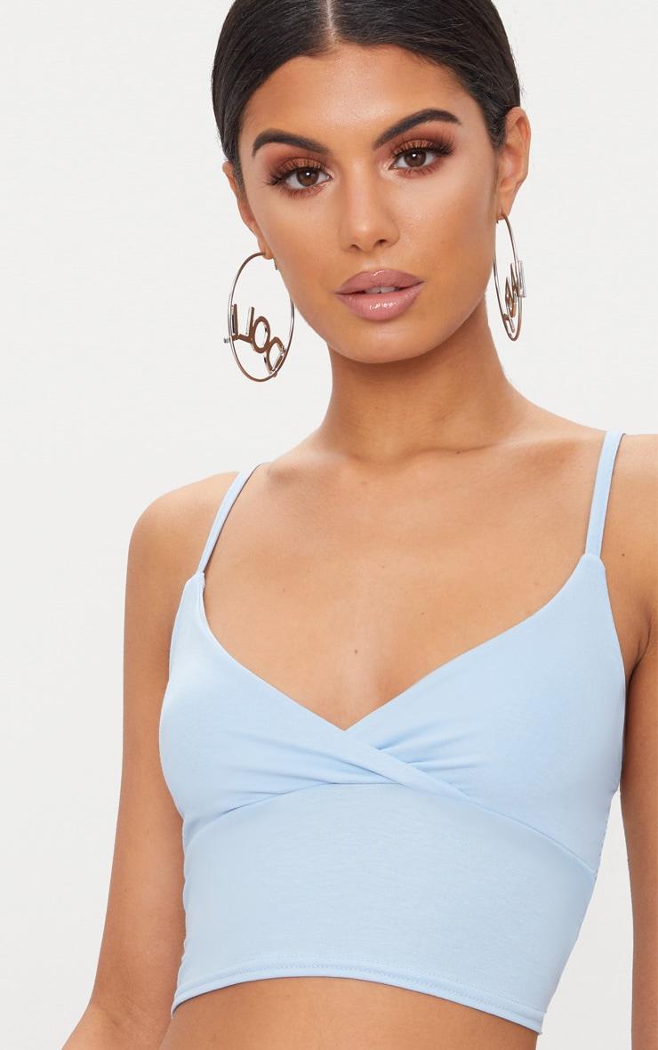 Basic Pastel Blue Jersey Bralet 3