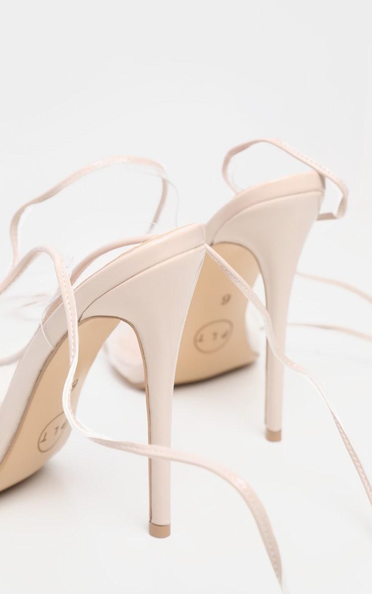 Nude Slingback Open Toe Sandal 4