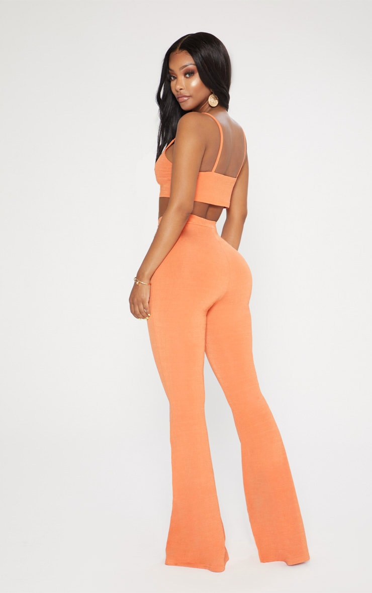 Shape Tangerine Strappy Crop Top 2