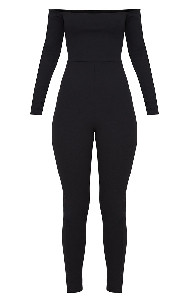 Black Long Sleeve Bardot Jumpsuit 3