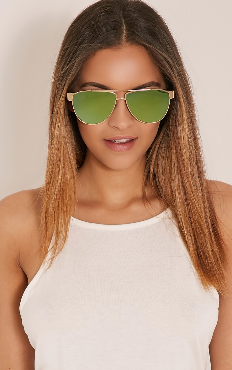 Galice Gold Frame Sunglasses 2