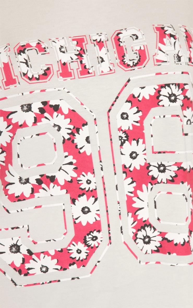Ella White & Red Floral 'Michigan