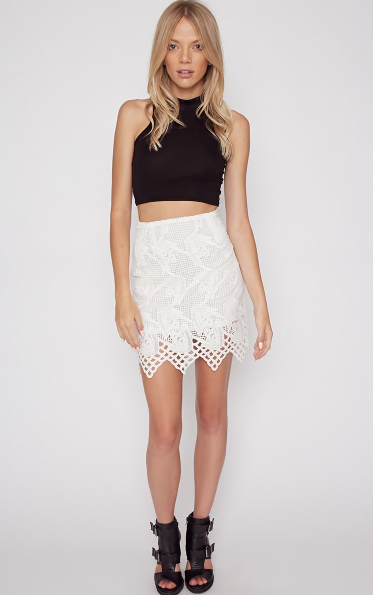 Carla White Lace Skirt  4