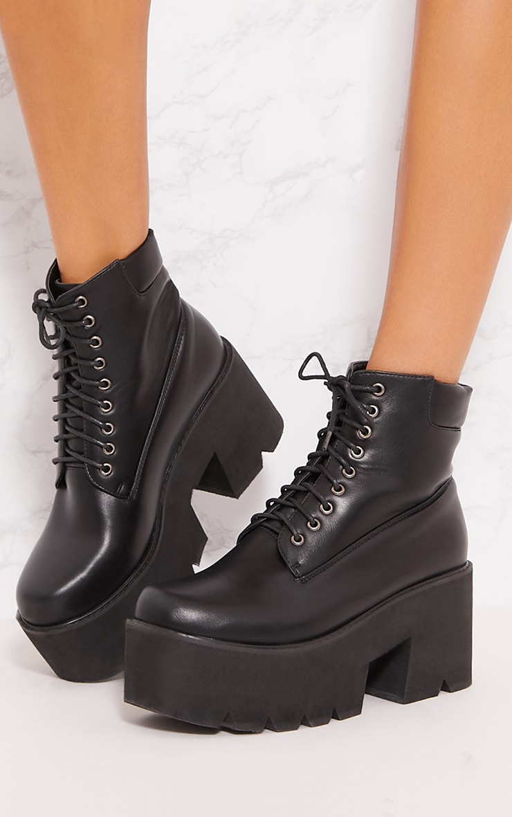 Black Chunky Festival Boot 2