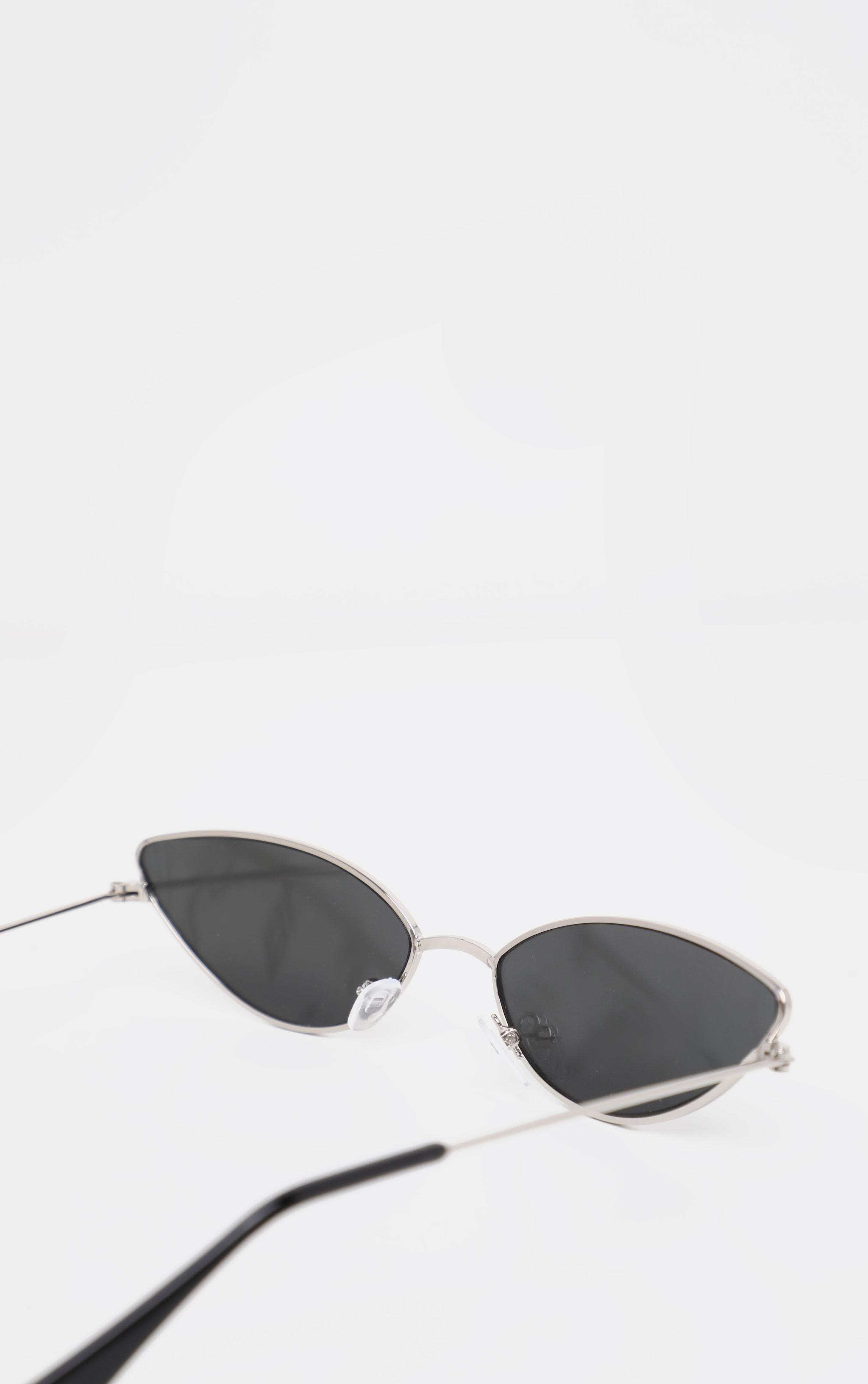 Silver Revo Metal Almond Shape Sunglasses 4