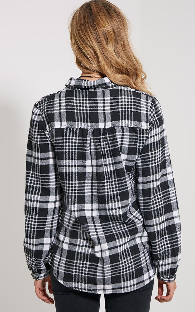 Mariel Monochrome Checked Shirt 2