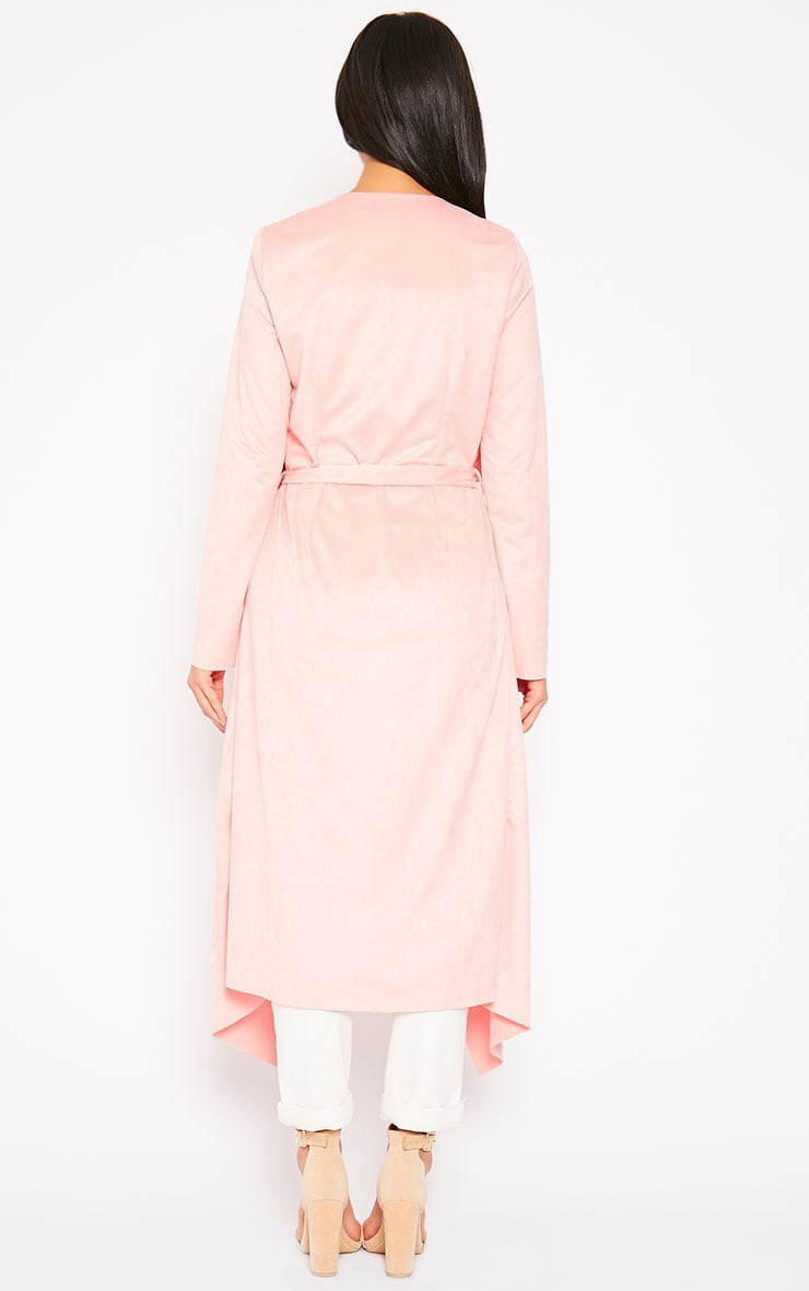 Liberty Baby Pink Suede Waterfall Coat 2
