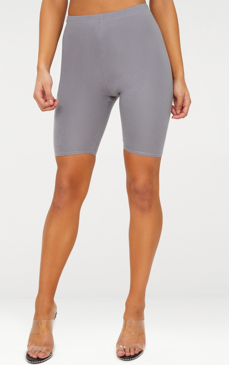Charcoal Grey Basic Bike Shorts 2
