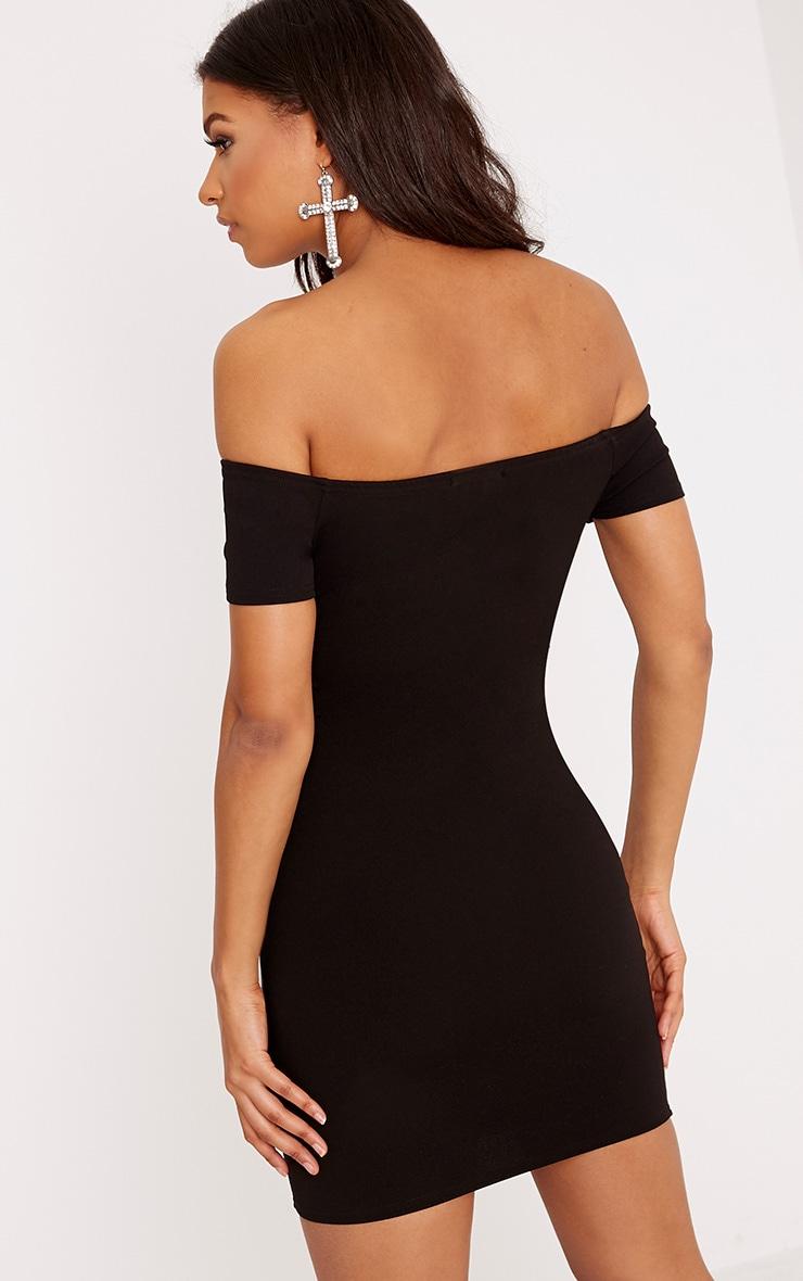 Bryce Black Bardot corset Bodycon Dress 2