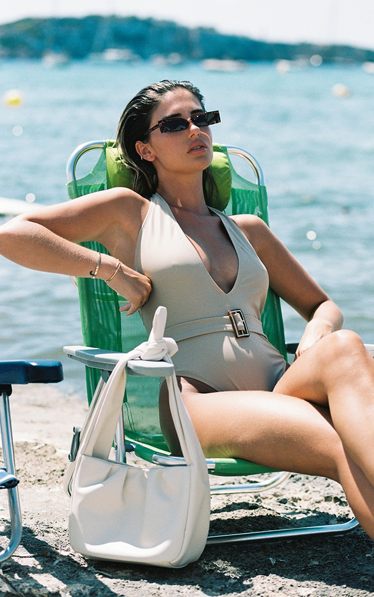 Sand Plunge Belted Swimsuit 2