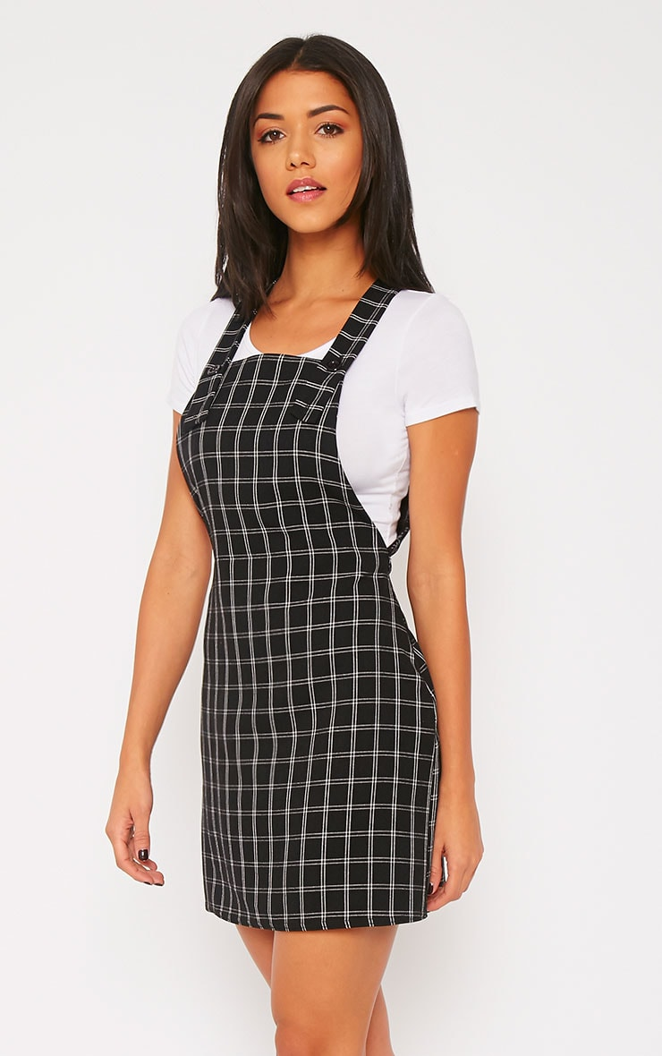 Blair Monochrome Square Print Pinafore Dress 3