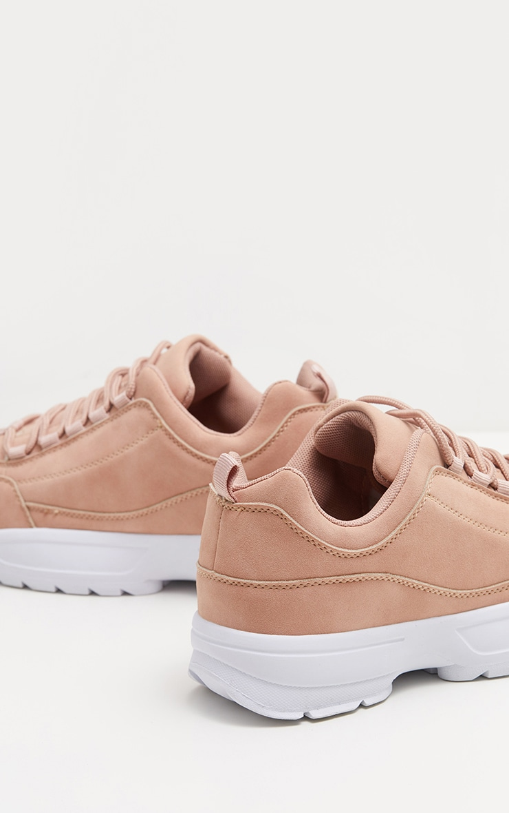 Pink Chunky Cleated Sole Sneakers 3