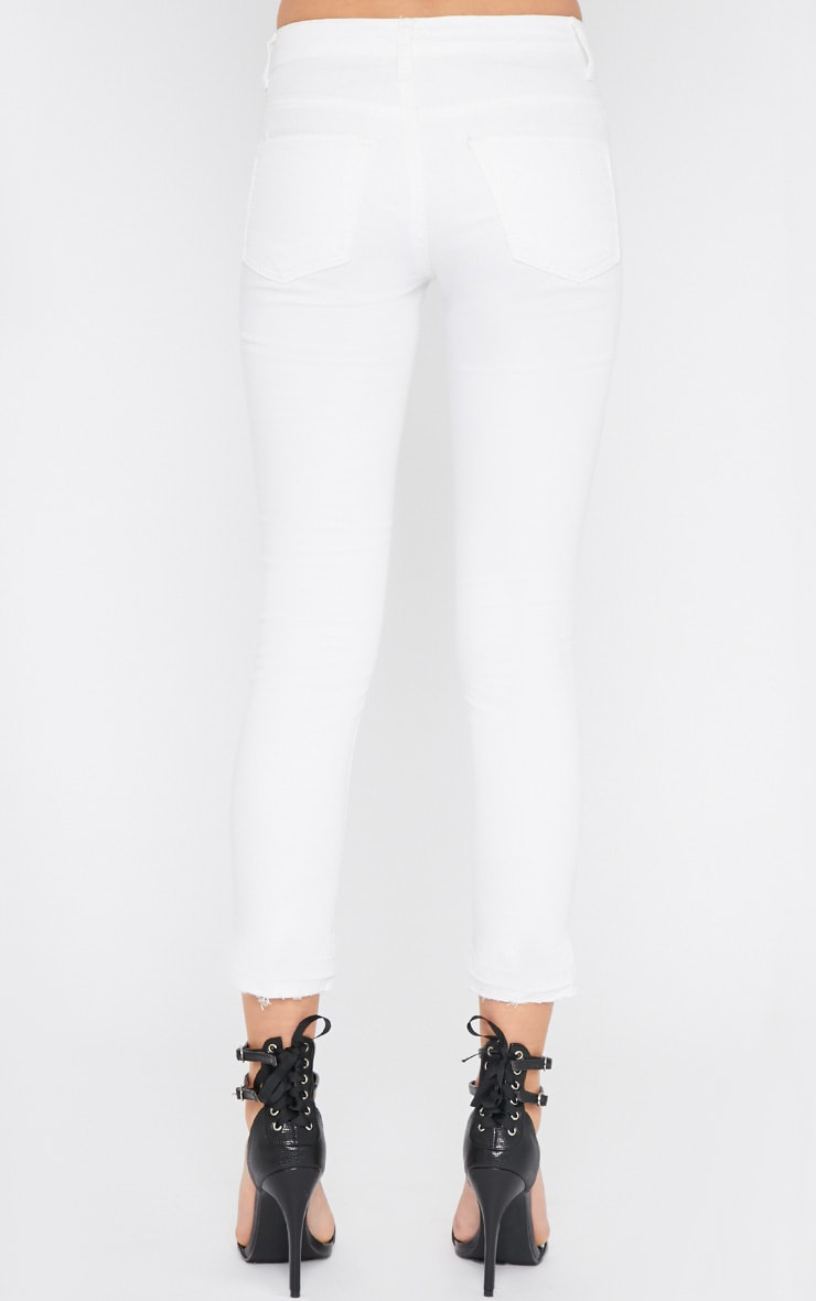 Grace White Ankle Grazer Skinny Jean  2