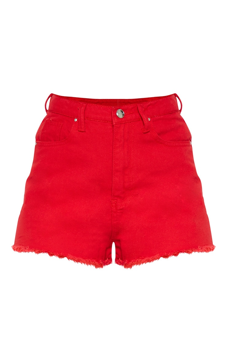 Red Shelby Bum Rip Short  3