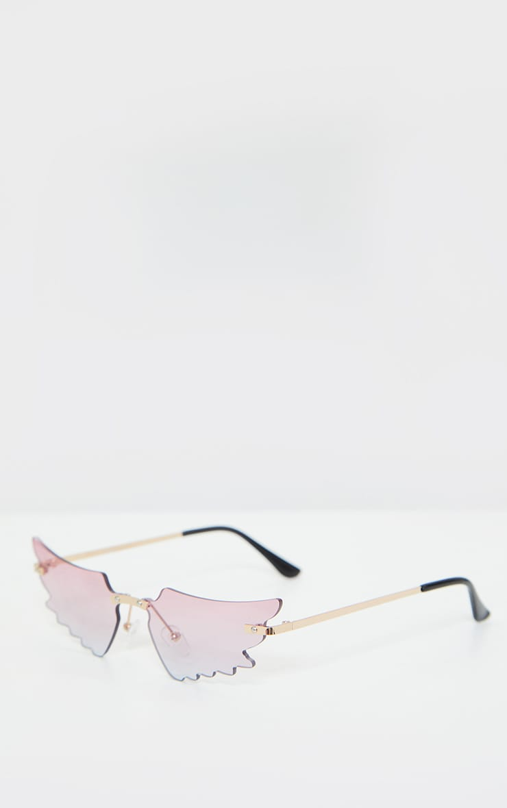 Pink Butterfly Lens Sunglasses 3