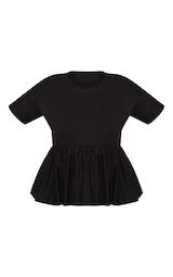 Plus Black Frill Hem T Shirt 3