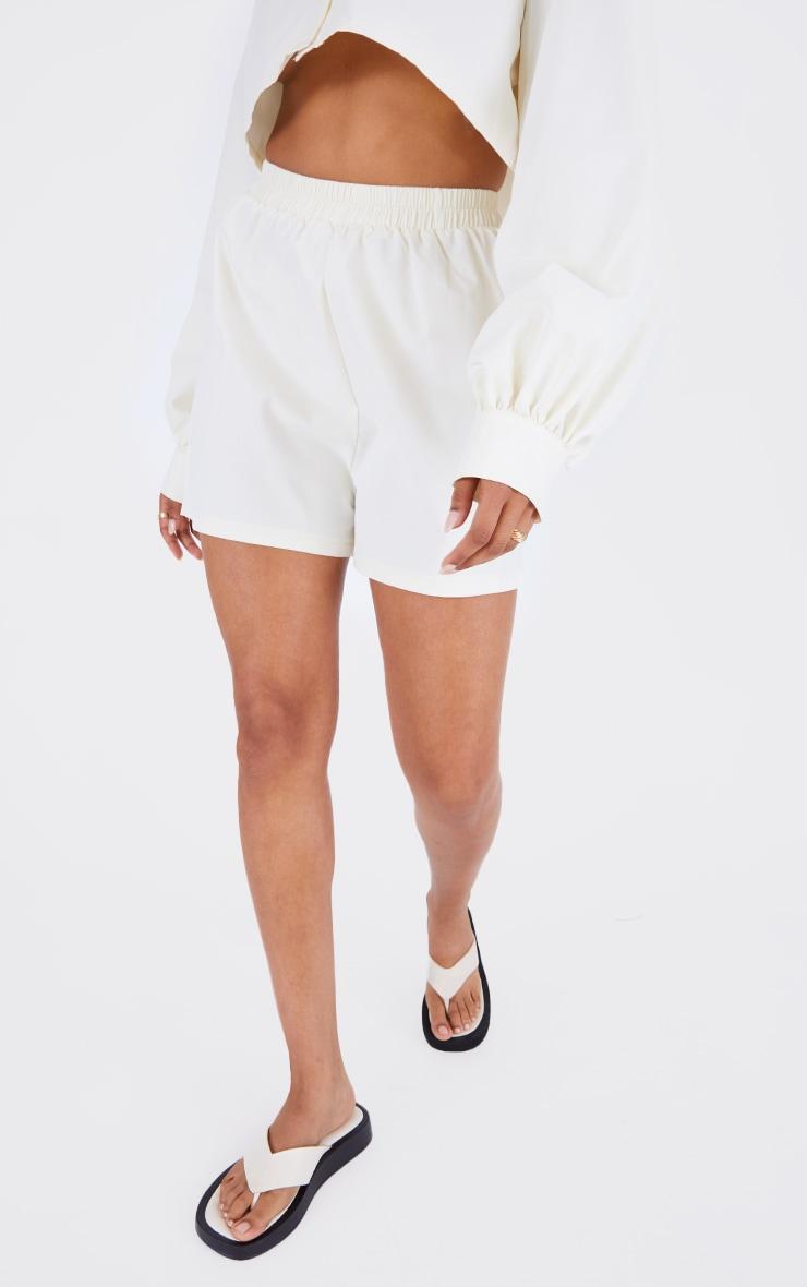 Cream Woven A Line Shorts 2