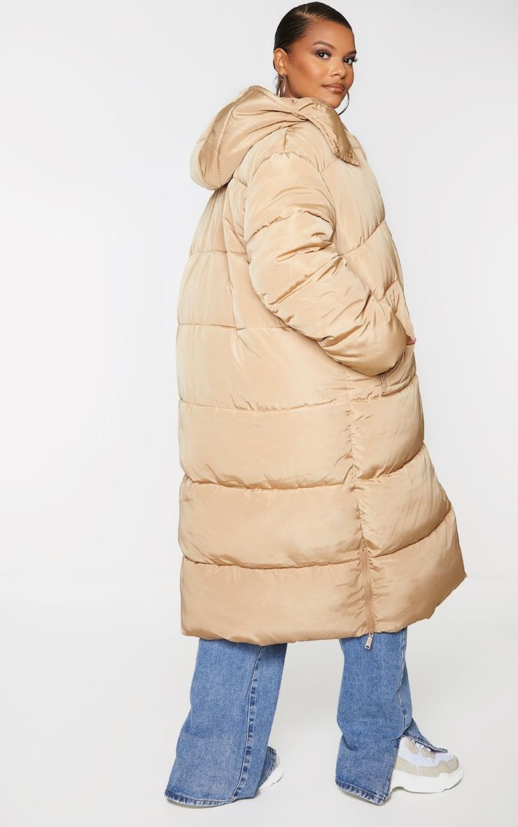 Plus Stone Maxi Hooded Puffer Jacket 2