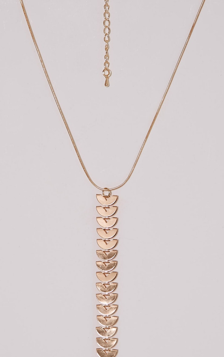 Feviah Gold Drop Chain Choker 2
